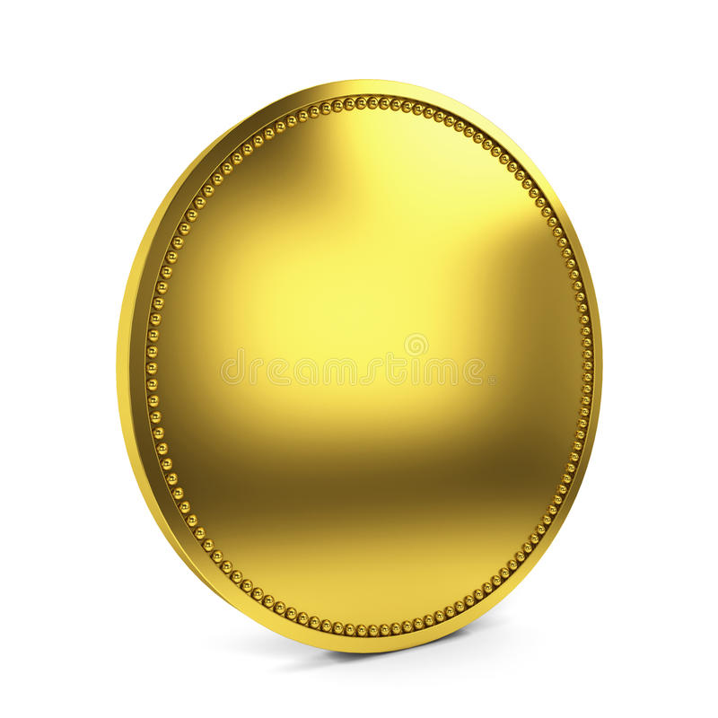 Golden coin stock illustration