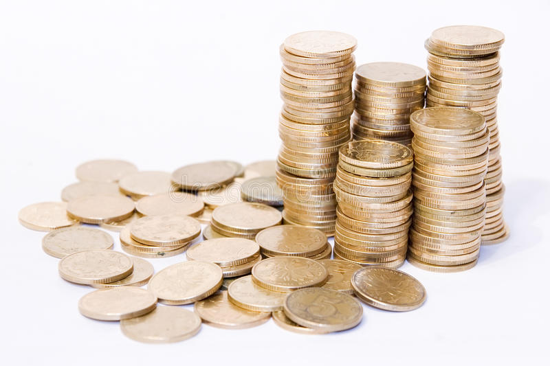 Download Golden coins stock photo. Image of colored, yellow, money - 16508974