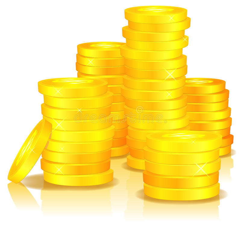 Download Golden Coins stock vector. Image of metal, glimmering - 25803016