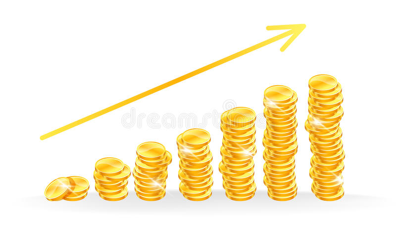 Download Golden coins stock vector. Illustration of earning, change - 26924310