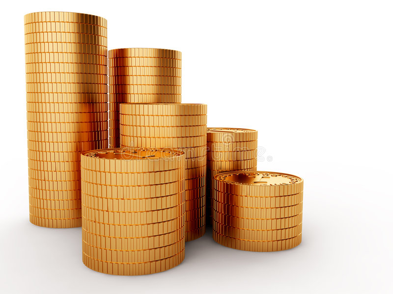 Download Golden coins stock illustration. Image of finance, investment - 9112146
