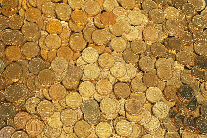 Download Golden coins stock photo. Image of money, cent, background - 33437570