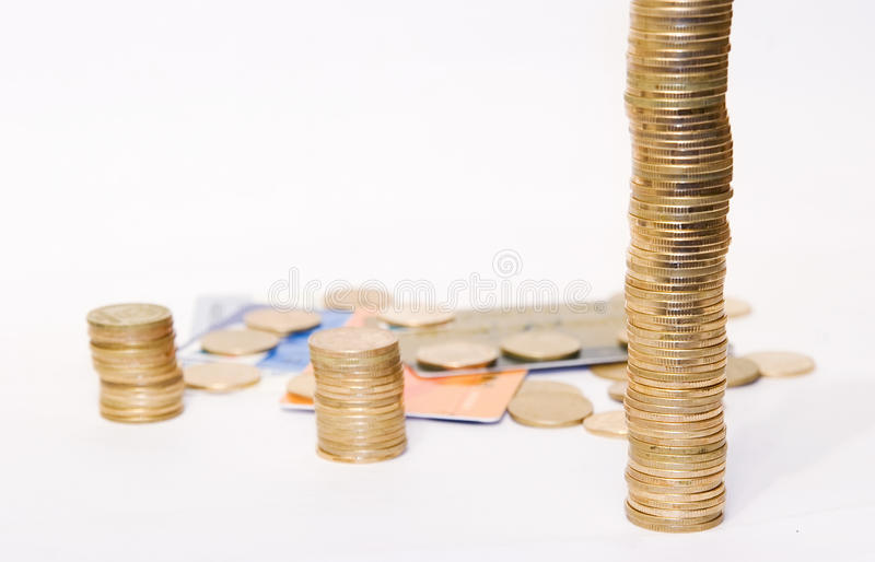 Download Golden coins on cards stock image. Image of more, china - 16508955