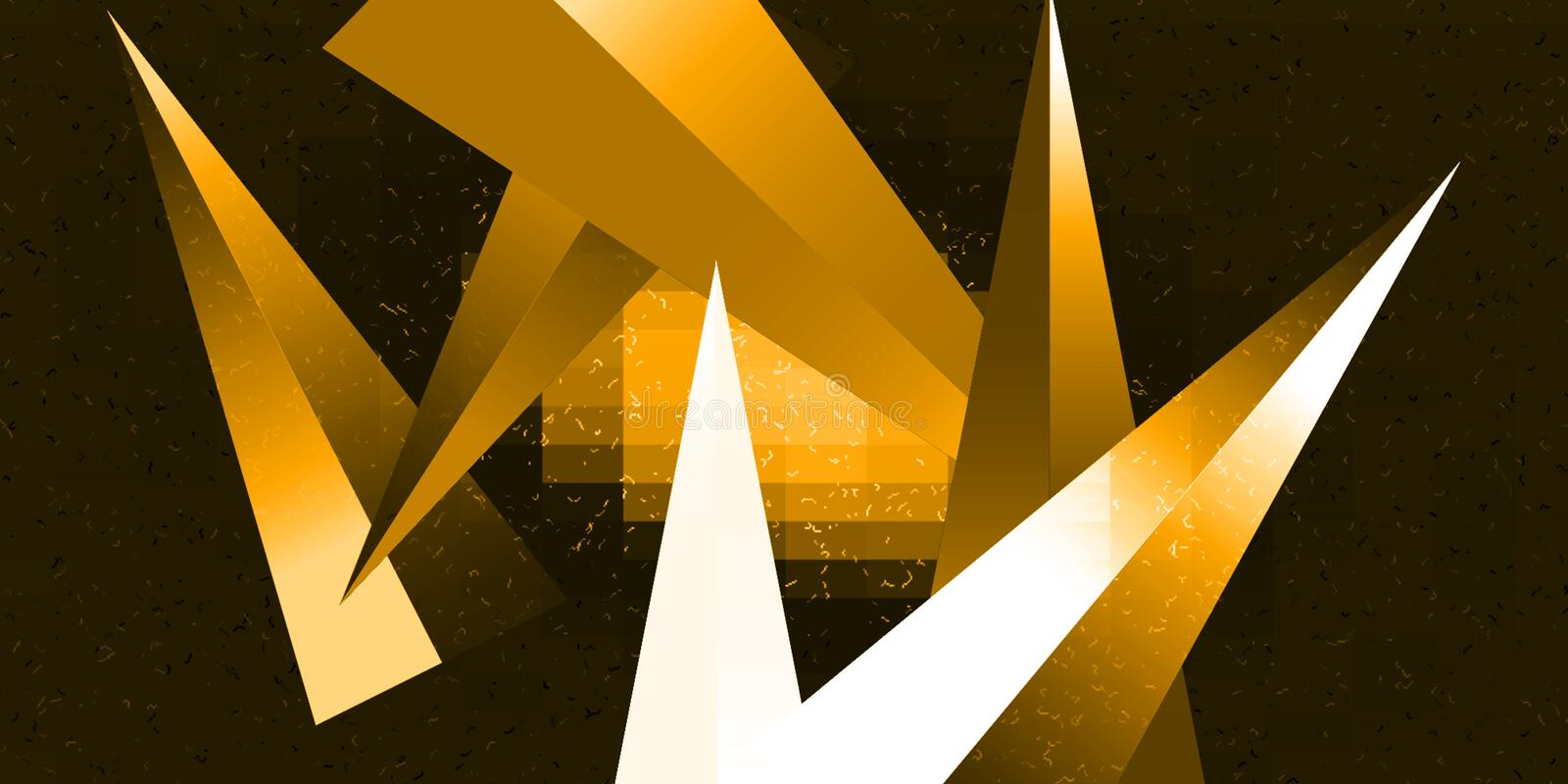 Golden color with  lighted and sparkling effect computer generated background  image for wallpaper design royalty free illustration