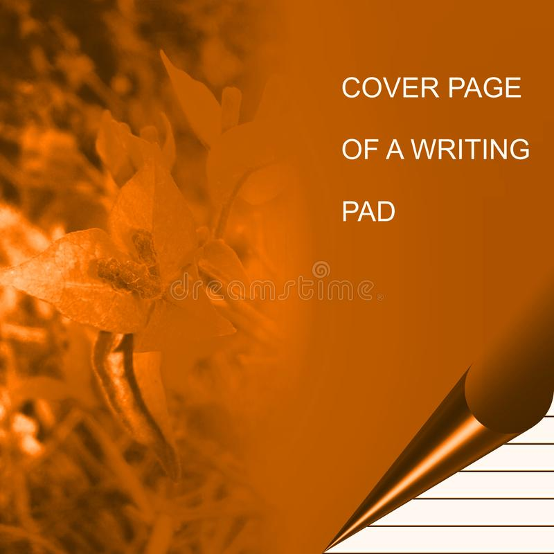 Golden color writing pad shaded with lighting effect computer generated background image and wallpaper design. Useful for many purpose like , printing , screen vector illustration