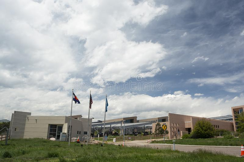 GOLDEN, COLORADO USA - May 26, 2019: The National Renewable Energy Laboratory is a US Department of Energy research facility stock photo