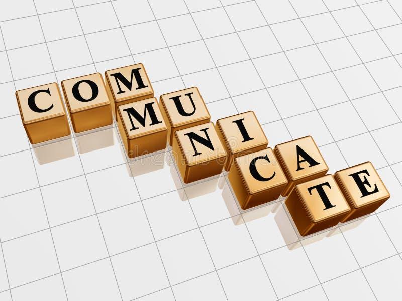 Golden communicate stock illustration