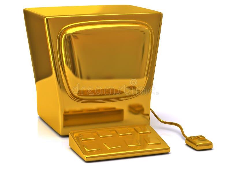 Download Golden computer stock illustration. Image of digital - 31927857