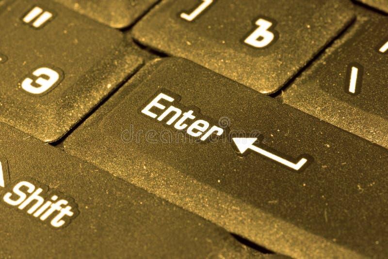 Download Golden computer keyboard stock image. Image of keyboard - 3280117