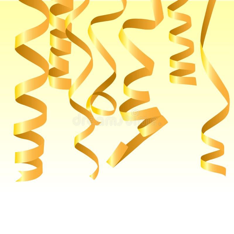 Golden confetti royalty free illustration