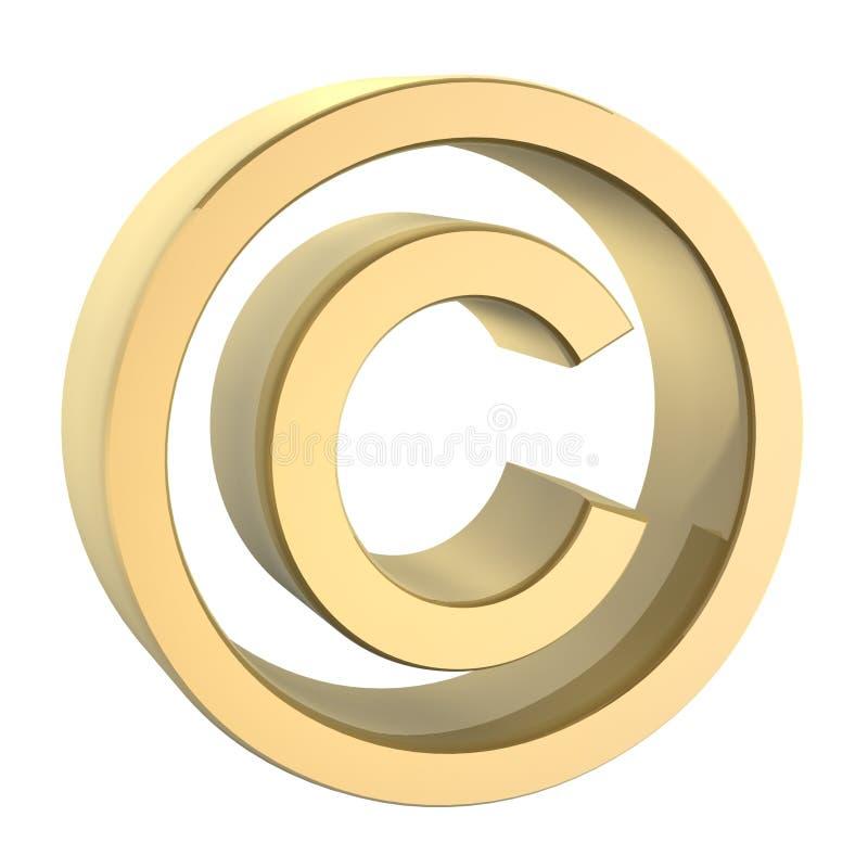 Golden copyright. Symbol stock illustration