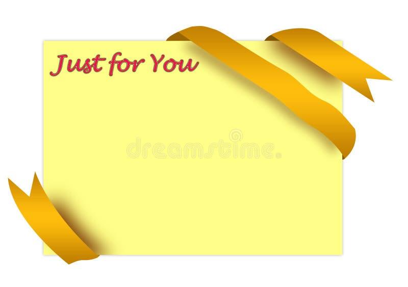 Download Golden Corner Ribbon With Just For You Sign Stock Illustration - Illustration of promote, illustration: 11686658