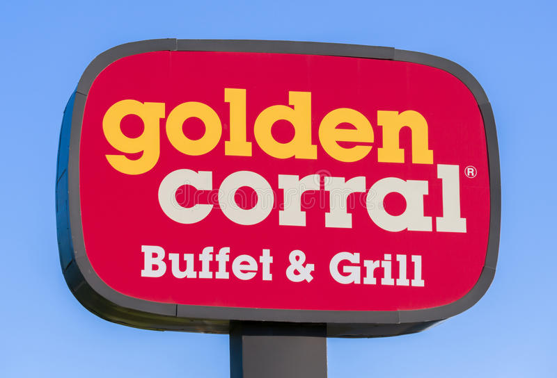 golden corral buffet and grill exterior sign and logo editorial