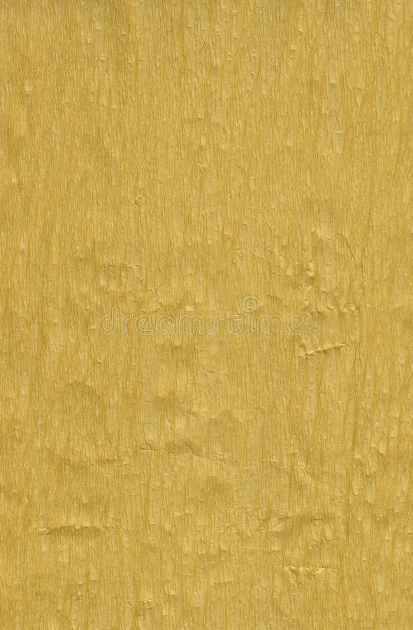 Golden crepe paper royalty free stock image