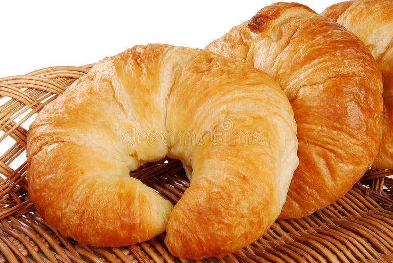 Golden croissants stock photo