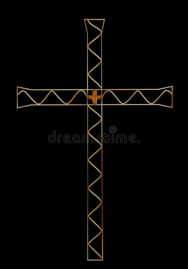 Download Golden cross stock illustration. Image of isolated, gold - 17675313