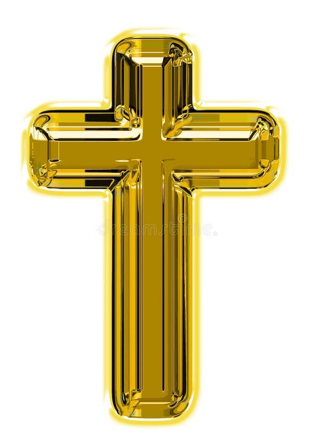 Golden cross royalty free stock photo