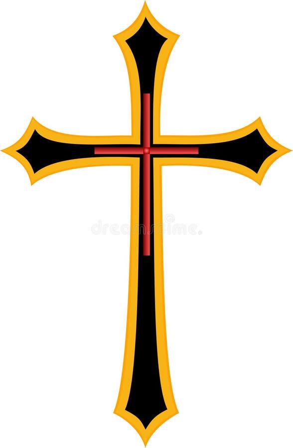 Download Golden cross stock illustration. Illustration of isolated - 31774780