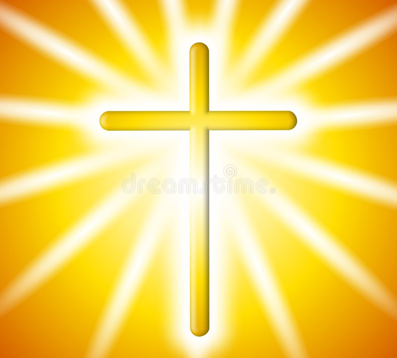 Download Golden Cross Light Rays Background Stock Image - Image: 4433751