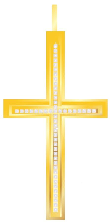 Golden Cross Pendent Royalty Free Stock Photos
