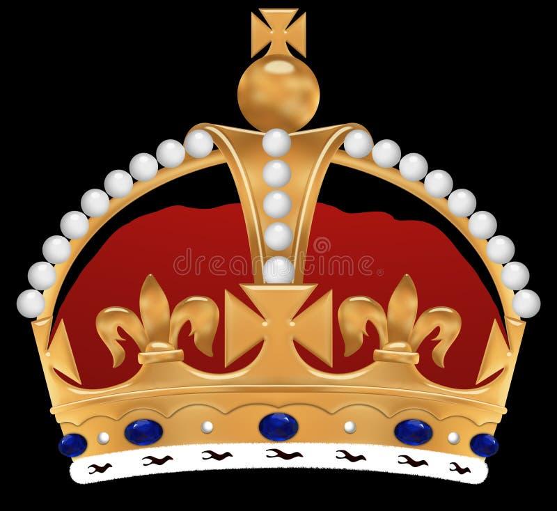 Golden crown stock illustration