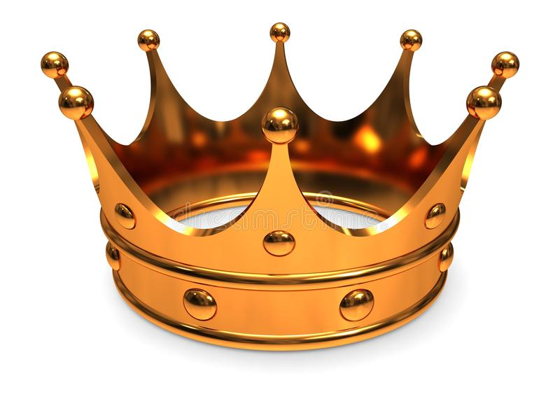 Download Golden crown stock illustration. Image of award, aristocratic - 28240426