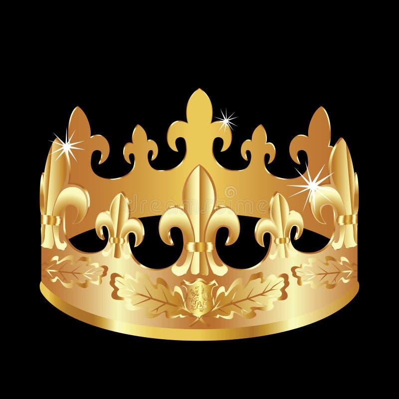 Golden crown. stock illustration