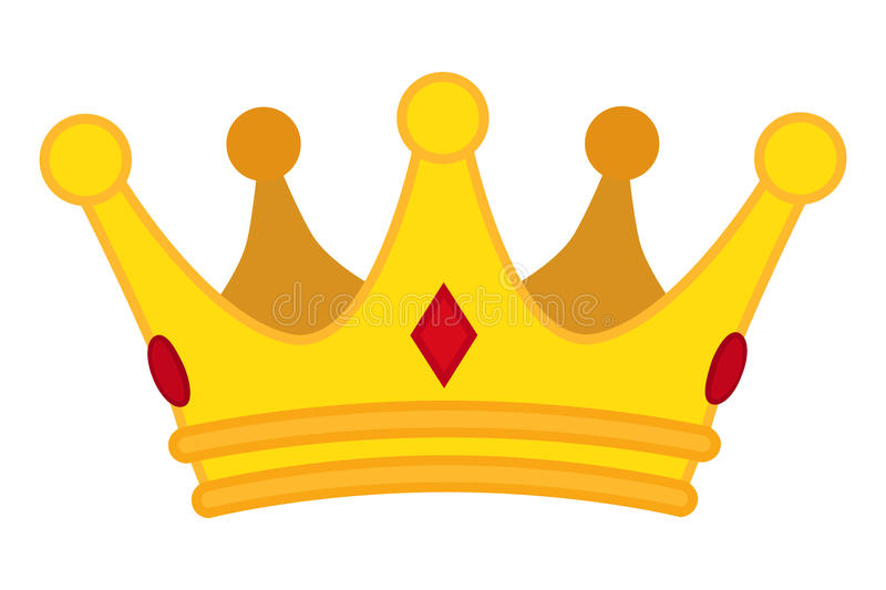 Golden crown cartoon icon. Vector jewelry for monarch. vector illustration