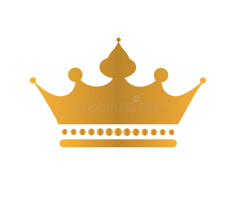 Golden Crown Icon Stock Vector Illustration Of Hostess 82257012