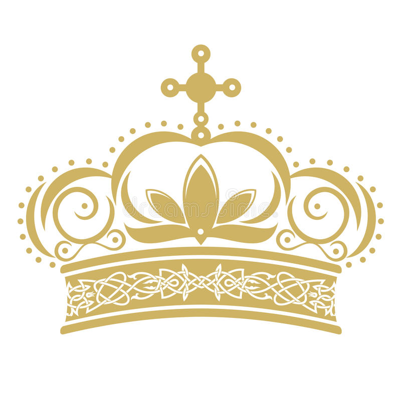 Golden crown stock illustration