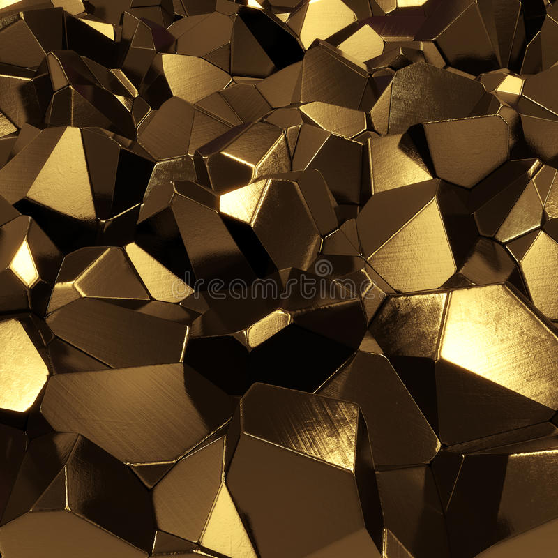 Golden Crystals Stock Image