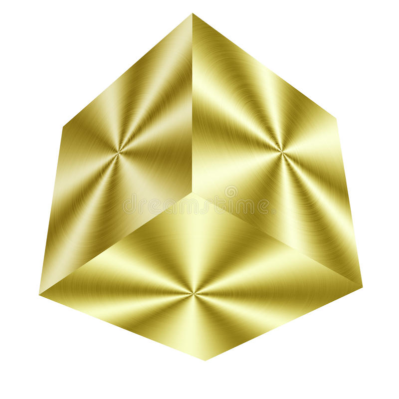 Free Golden Cube Stock Photo - 30255580