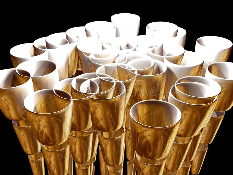 Golden cup illustration stock image