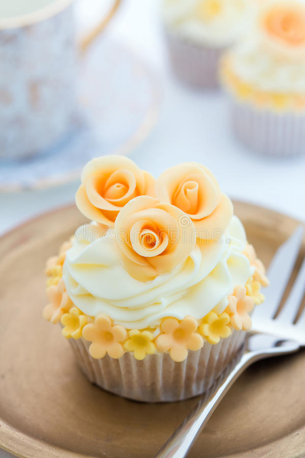 Golden Cupcake Royalty Free Stock Photography