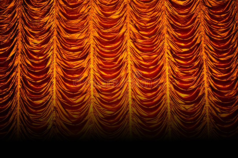Golden curtains royalty free stock image