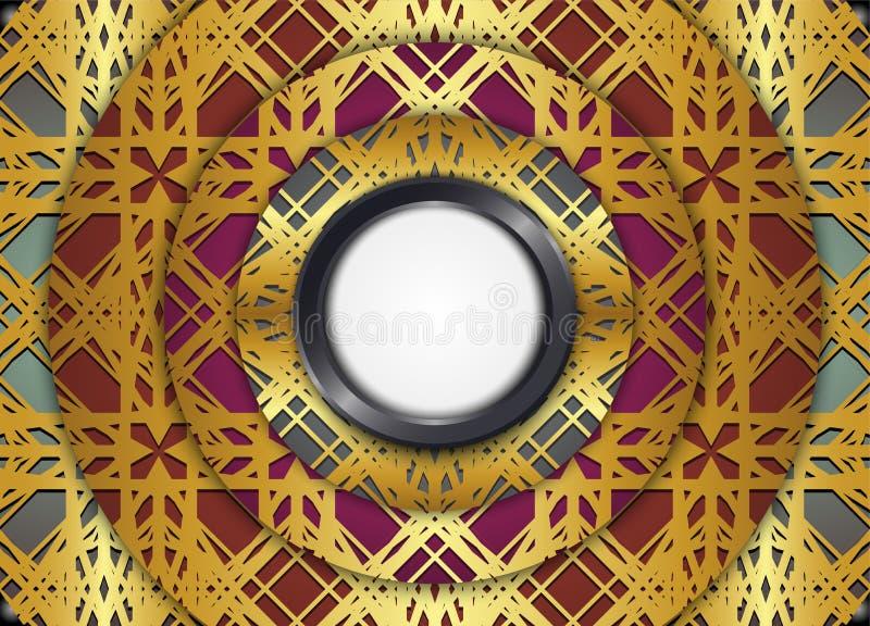 Golden and Dark vintage background. stock illustration