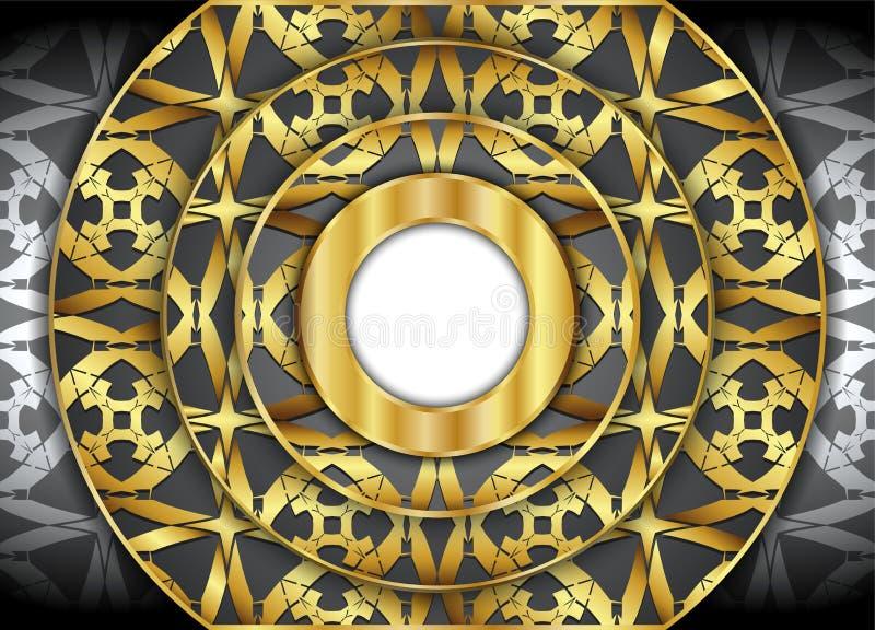 Golden and Dark vintage background. royalty free illustration