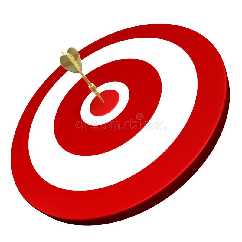 Download Golden Dart Hit On Target Stock Photo - Image: 5995970