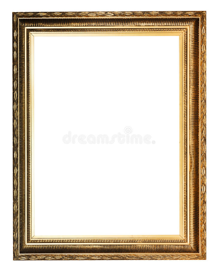 Golden decorated ancient picture frame royalty free stock photos
