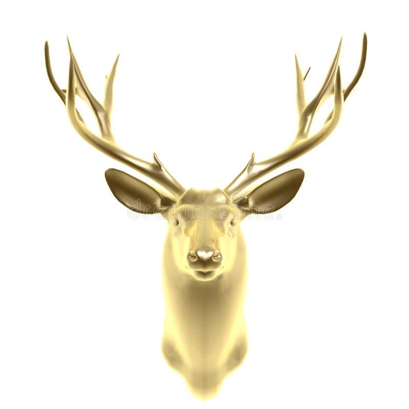 Free Golden Deer Head Royalty Free Stock Image - 13108056