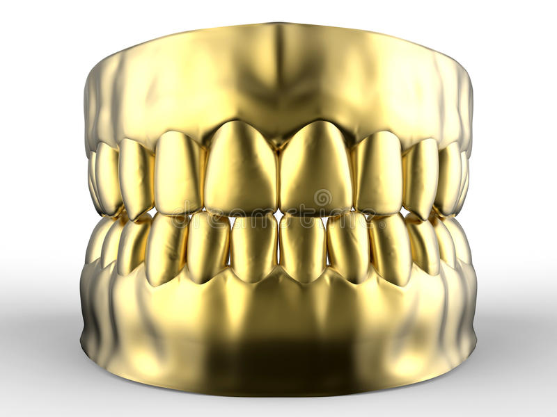 Golden denture vector illustration