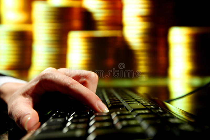 Download Golden deposit stock image. Image of economy, finger - 20726933