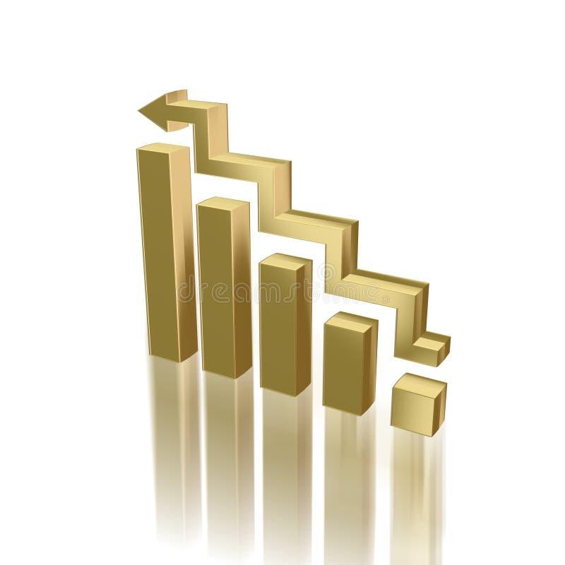 Golden diagram stock photo