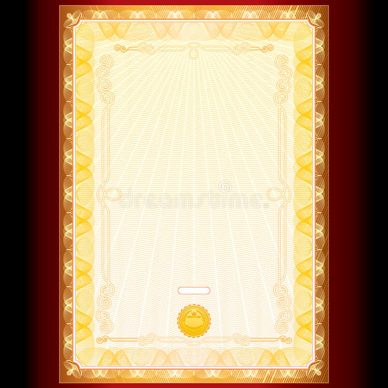 Download Golden Diploma stock vector. Image of business, diploma - 26397636