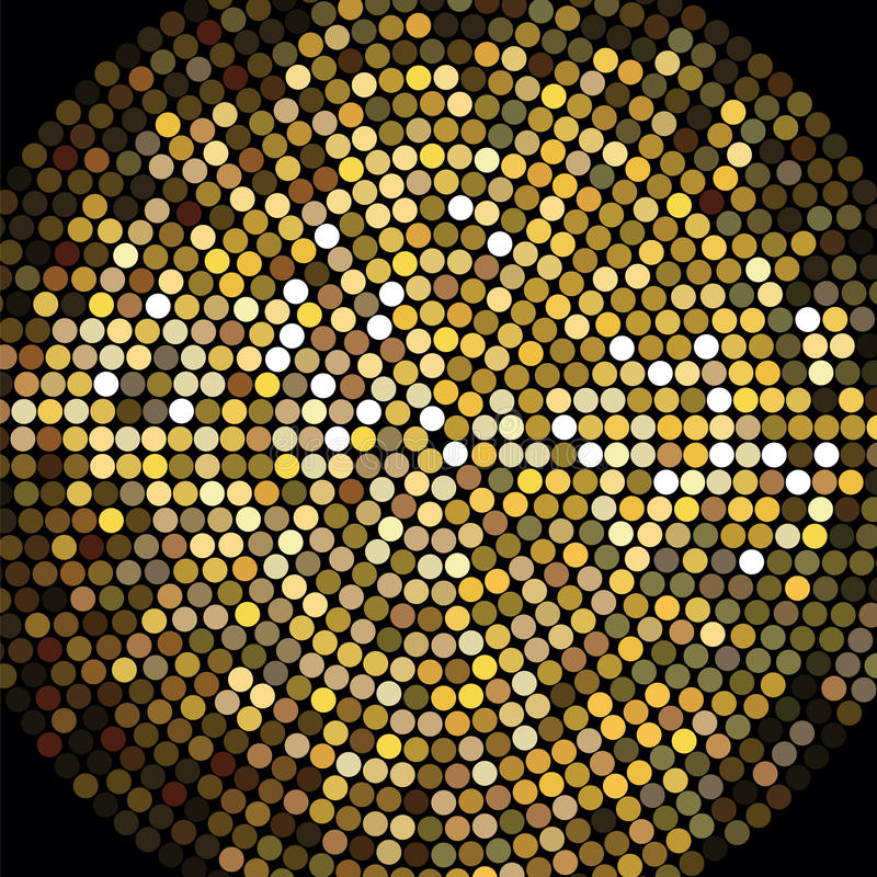 Golden Disco Ball Mosaic Background royalty free illustration