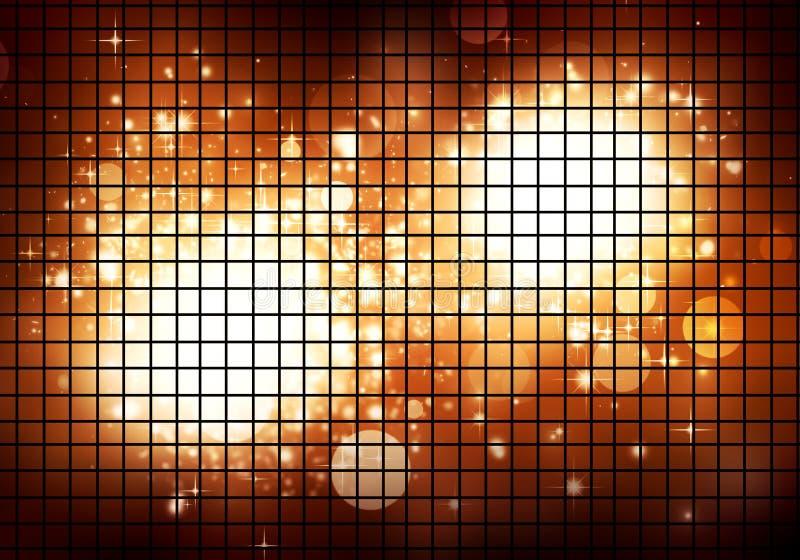 Download Golden Disco Lights stock illustration. Image of card - 27556019