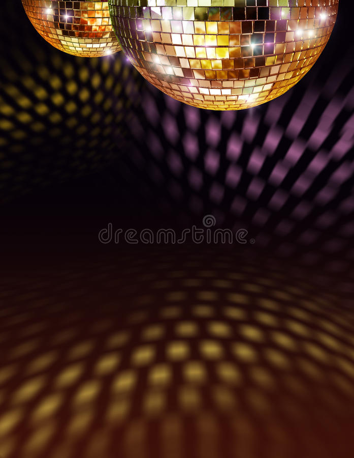 Download Golden disco mirror ball stock image. Image of ball, music - 14243277
