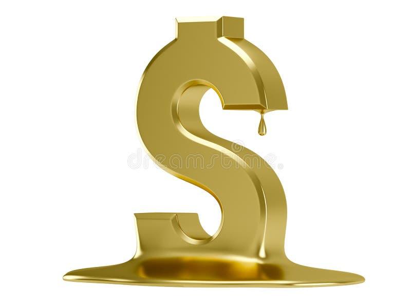 Golden Dollar Royalty Free Stock Photos