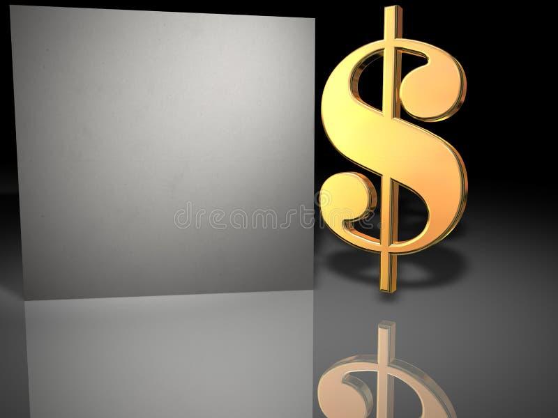 Download Golden dollar board stock illustration. Image of artistry - 5945421