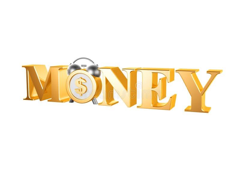 Download Golden dollar clock stock illustration. Image of loan - 41397451